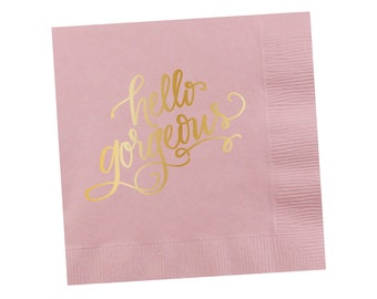 Napkins | Hello Gorgeous (light pink)