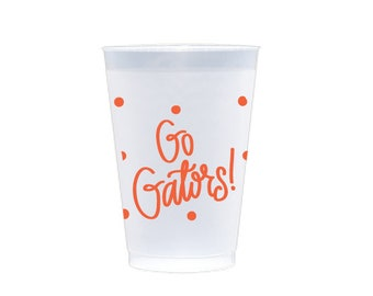 GO GATORS | Reusable Flex Cups (orange)