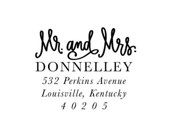 Address Stamp - Mr. and Mrs.