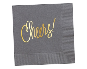 Napkins | Cheers - Grey (in stock)