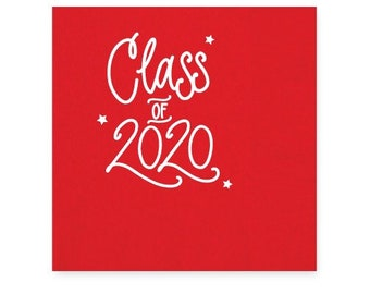 2020 Graduation | Napkins (red + white foil) - In-Stock!