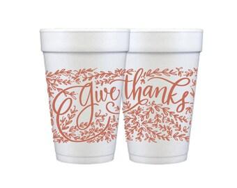 Foam Cups | Give Thanks (pumpkin)