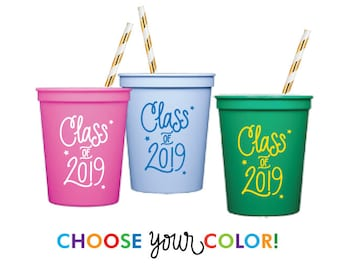 Graduation Stadium Cups | Choose YOUR Color!