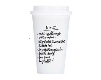 To Do List | To-Go Coffee Cups Set