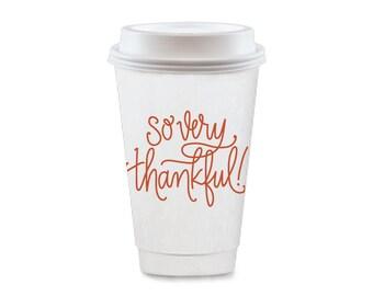 To-Go Coffee Cups | So Very Thankful (pumpkin orange)