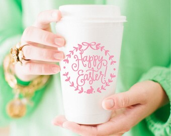To-Go Coffee Cups | Happy Easter (pink)