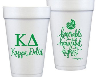 Kappa Delta   Foam Double Sided Foam Cups   (Qty 12)