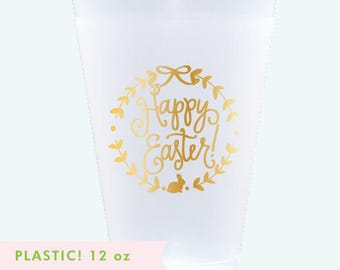 Reusable Cups | Happy Easter (gold)