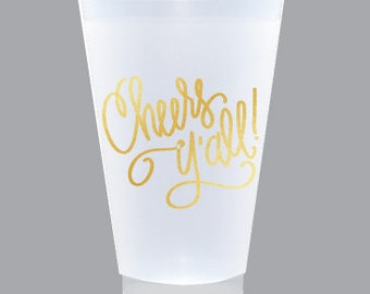 Cheers Y'all! Cups (reusable) LARGE CUPS 20 oz. - Qty 8