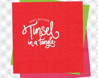 Tinsel in a Tangle Napkins (Qty 25)