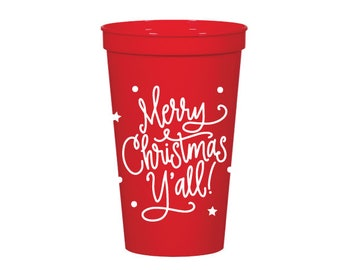 Stadium Cups | Merry Christmas Y'all (22 oz)