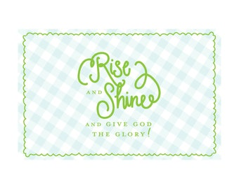 Rise and Shine! | Easter Paper Placemats