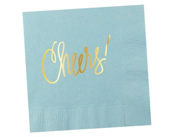 Napkins | Cheers - Light Blue (in stock)