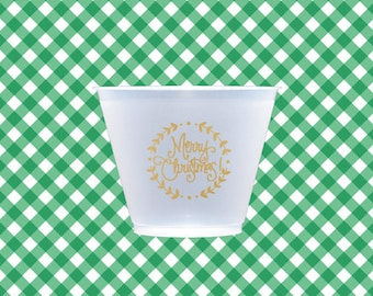 Christmas Wreath Cups (reusable) - Qty 12