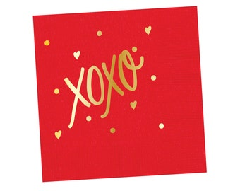 Napkins | XOXO (red)