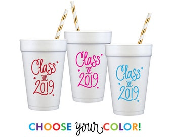 Graduation Foam Cups | Choose YOUR Color!
