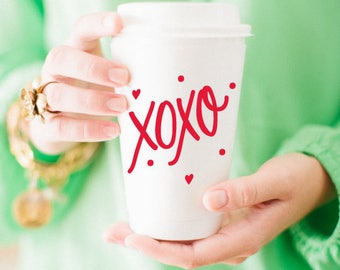 To-Go Coffee Cups | XOXO (red)