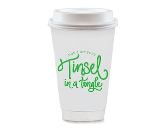 To-Go Coffee Cups | Tinsel in a Tangle (green)