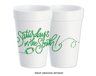 Foam Cups | Saturday's in the South (green)