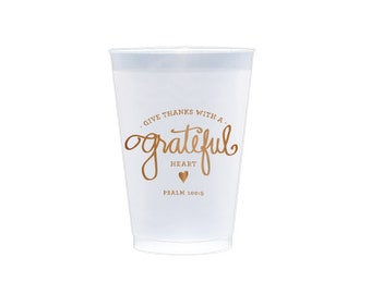 Frosted Cups   Grateful Heart (copper)