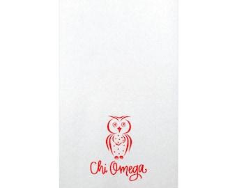 Chi Omega   Linun Guest Towels (Qty 25)