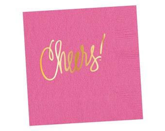 Napkins | Cheers - Happy Pink