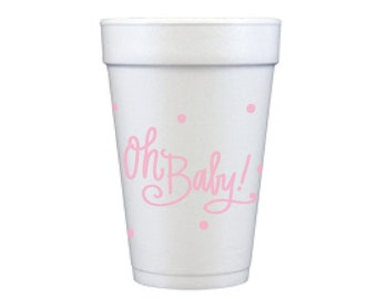 Foam Cups | Oh Baby! (pink)