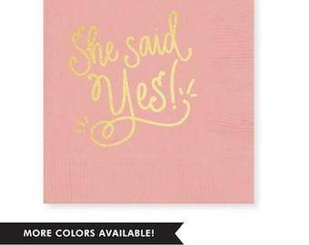 She Said Yes! Napkins (Qty 25)