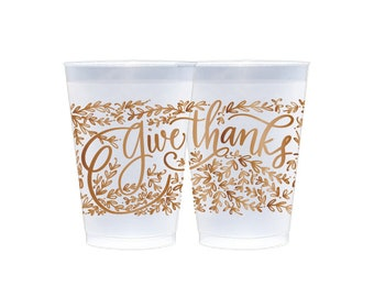 Frosted Cups | Give Thanks (copper)
