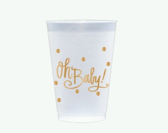 Oh Baby! (gold) | Frosted Flex Cups - 12 oz.