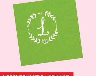 Custom Monogram Napkin  *no custom printing plate fee*