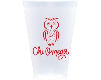 Chi Omega   Frost Flex Cups (Qty 12)