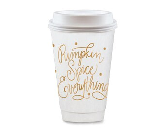 To-Go Coffee Cups | Pumpkin Spice Everything