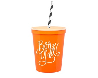 Boo Y'all  | Kids Cups (includes lids and straws!)