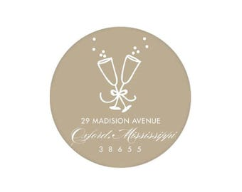 Champagne Stickers (tan) - Personalized!