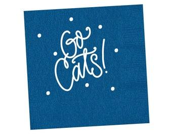 GO CATS   Napkins (blue)