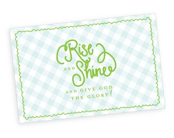 Paper Placemats | Rise and Shine (gingham)