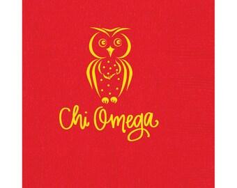 Chi Omega | Luncheon Napkins (Qty 25)