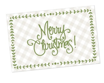 Paper Placemats | Merry Christmas with Gingham
