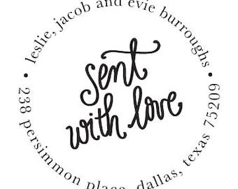 Address Stamp - Sent with Love