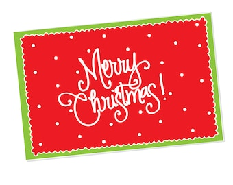 Paper Placemats | Merry Christmas! with Dots