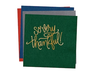 Napkins |  So Very Thankful (multiple colors available)