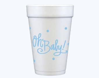 Oh Baby! (blue) | Foam Cups