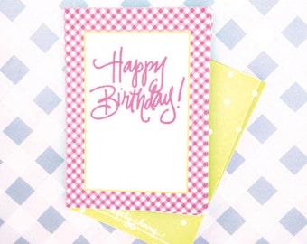 Gift Tags | Gingham Birthday (Qty 10)
