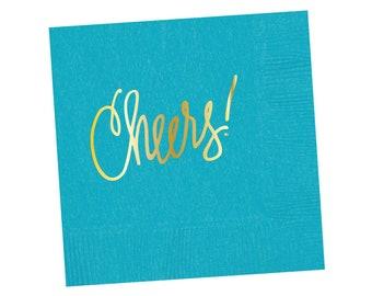 Napkins | Cheers - Bright Blue
