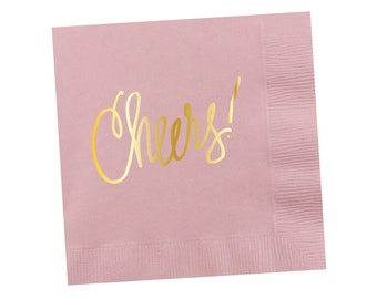 Napkins | Cheers - Light Pink (in stock)