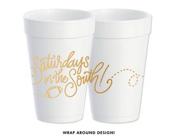 Foam Cups | Saturday's in the South (gold)