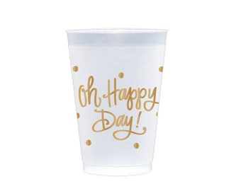 Frost Flex Cups | Oh Happy Day! (gold)