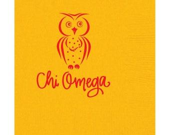 Chi Omega   Beverage Napkins (Qty 25)