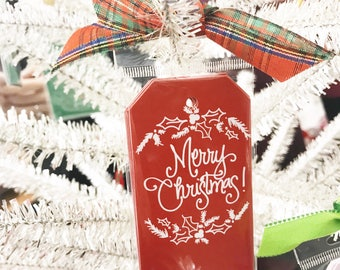 Gift Tags | Christmas Greenery (Red)